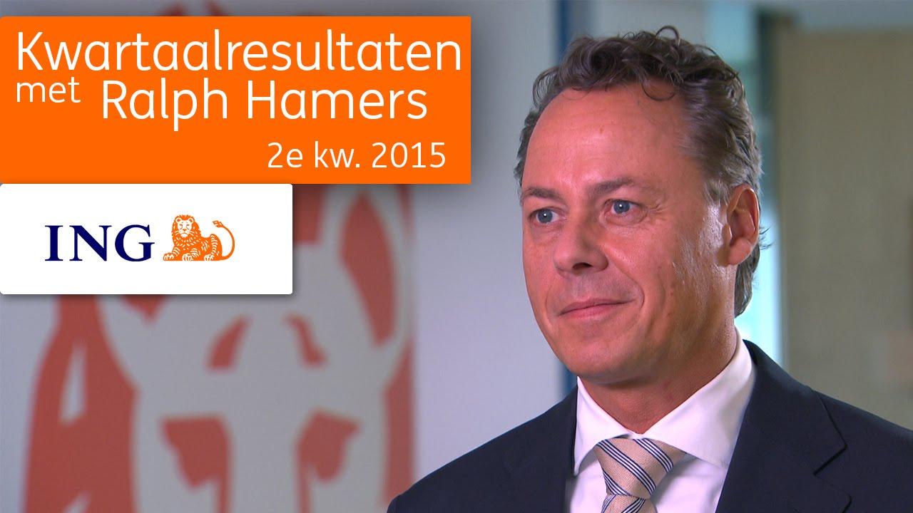 2Q2015 kwartaalcijfers met CEO ING Groep Ralph Hamers (NL ...