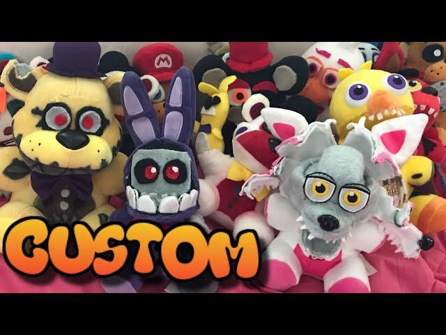 My Entire Custom FNaF Plush Collection