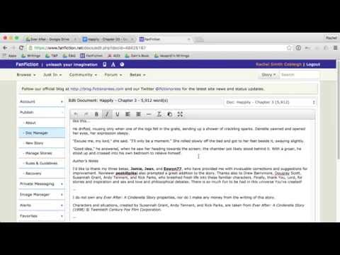 How To Add A Chapter To An Existing Story On FanFiction.net
