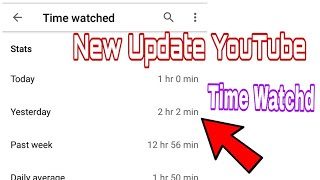 YouTube New Update | Time Watched | TIF Technology | Tanvir Chowdhury |