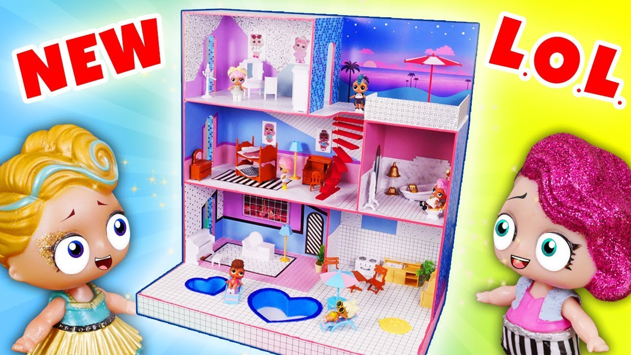 How To Make New Dollhouse For Lol Surprise Dolls First Diy Youtube