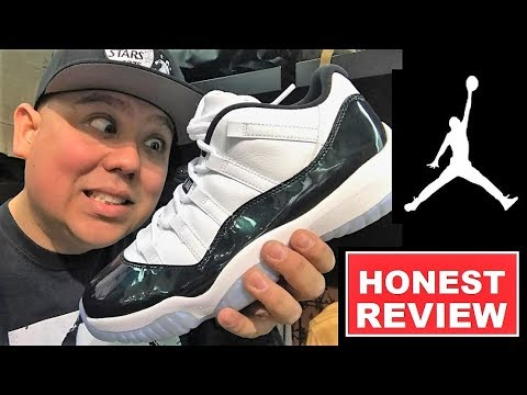 9c6a8280f92 AIR JORDAN 11 XI EASTER EMERALD LOW SNEAKER REVIEW - WATCH BEFORE YOU BUY  THESE