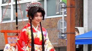 2017年4月2日、松山春まつりにて撮影。お姫様役で登場の真野恵里...
