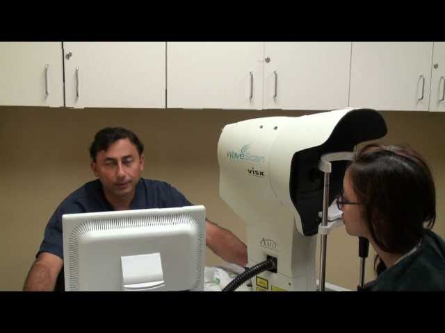 Dr. Khanna Examines Brenda Song's Eyes -Los Angeles Lasik Surgery