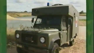 Land Rover Defender Wolf Sankey Trailer On Road and off Road Driving. British Army Training Part 2