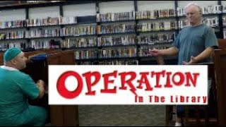 PLAYING OPERATION IN THE LIBRARY PRANK   Funny public prank   Re upload