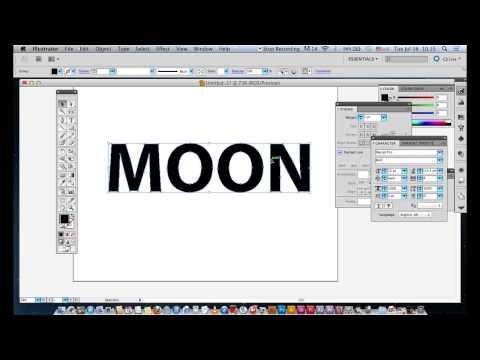 การสร้างตัวอักษรใน Illustrator By อ.พี่อั๋น ตอนที่ 1