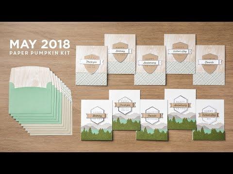May 2018 Paper Pumpkin Club!