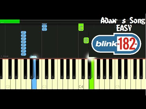 blink182  Adams Song  Piano Tutorial
