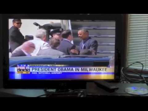Wisconsin Governor Scott Walker Greets President Obama to Milwaukee, WI September 1, 2014