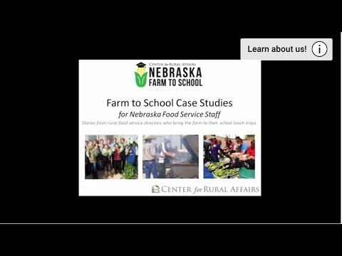 Farm to School Case Studies for Nebraska Food Service Staff