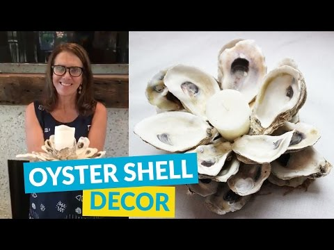 DIY Oyster Shell Candle Holder!