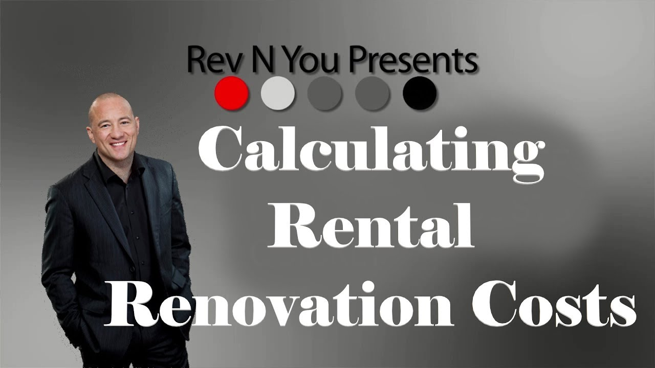 how to calculate renovation costs quickly youtube
