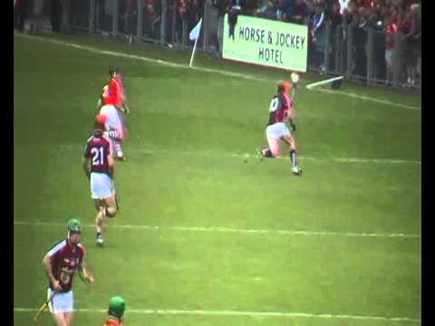 Conor Whelan gets a point for Galway v Cork