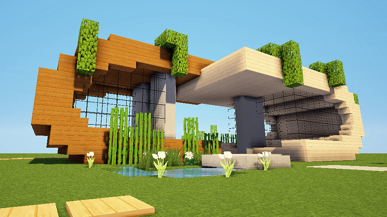 MINECRAFT TUTO MAISON MODERNE ! - YouTube