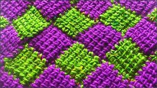 Энтерлак. Вязание энтерлак. Узор крючком. Часть 1. (enterlak. crochet. P. 1)