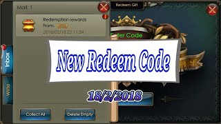 Free New Redeem Code 18/2/2018 - Legacy of Discord