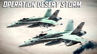 DCS: Operation Desert Storm Mission (Air To Air/SEAD/Ground Attack)