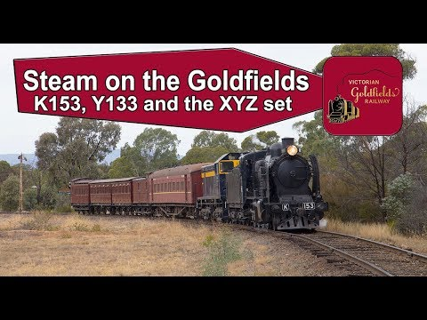 Steam Trains Australia - K153 returns for 2019 with Y133 and the XYZ set
