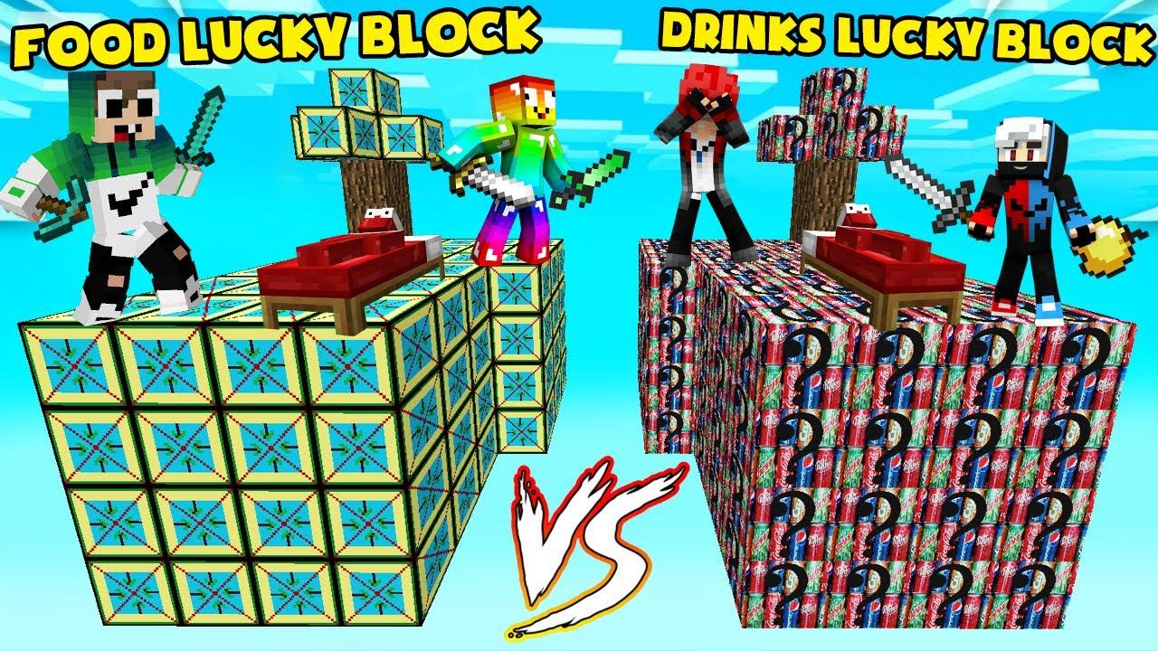 MINI GAME : FOOD VS DRINKS LUCKY BLOCK BEDWARS ** ĐỒ ĂN HAY NƯỚC UỐNG VIP NHẤT TRONG MINECRAFT ??