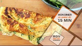 Une omelette aux herbes en moins de 15 minutes