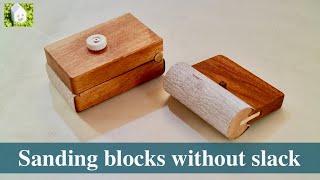 【DIY】たるまず張れるサンドペーパーホルダーを作る/Making sanding blocks without slack