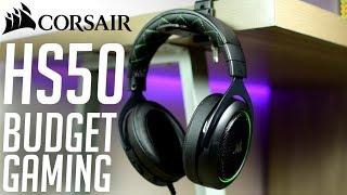 Corsair HS50 Stereo Gaming Headsets - Budget!