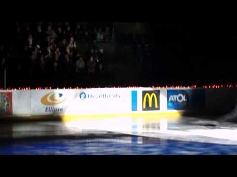 danse verticale sur glace
