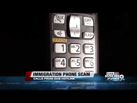 Department of Homeland Security warns of immigration phone scam