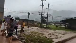 張家界暴雨山洪 小學教室被沖毀