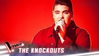 The Knockouts: Jordan Anthony sings 'Scared To Be Lonely'   The Voice Australia 2019