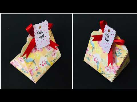 Gift Box DIY | Paper Box Craft | Easy Paper Bag | Gift Wrapping Idea