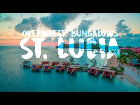 Sandals Overwater bungalows in St. Lucia