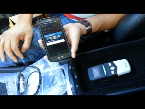 Demonstartion of the Viseeo MB-3 handsfree car kit for Mercedes Benz with UHI connection
