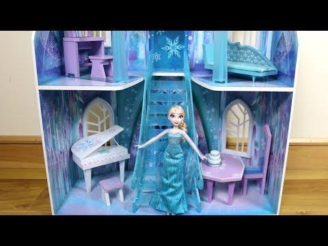 3 story Dollhouse Disney Frozen Ice Castle Unboxing Assembly House Tour