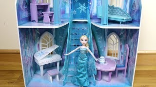 3 story Dollhouse Disney Frozen Ice Castle Unboxing Assembly House Tour