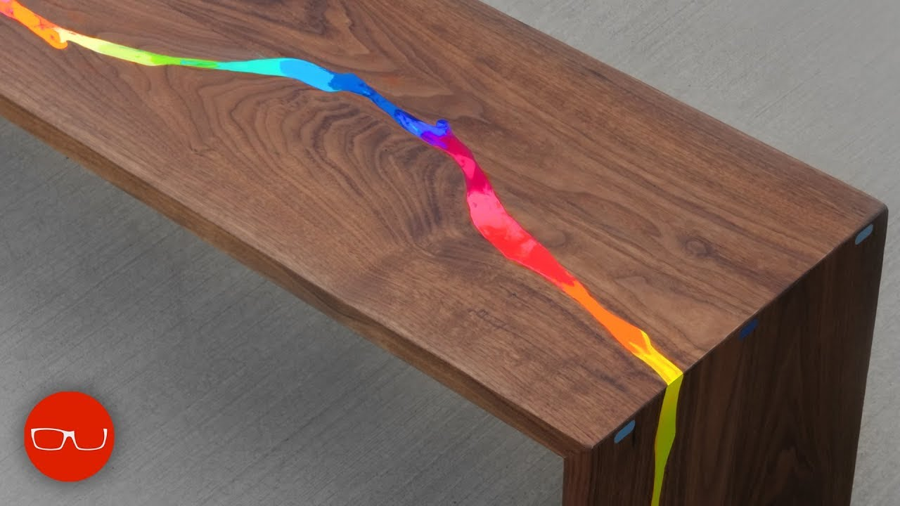 epoxy resin waterfall river table just kidding it 39 s crayons youtube. Black Bedroom Furniture Sets. Home Design Ideas