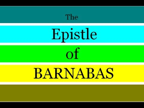 epistle of barnabas read along version highlighted youtube
