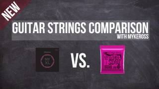 Guitar Strings Comparison 3 (Ernie Ball vs. D'addario NYXL)