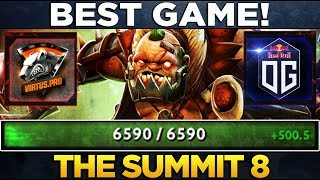 BEST Game of the Summit 8 - Carry Mid Pudge with 6590HP + Rapier Dusa Comeback - Dota 2