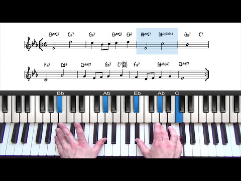 Somewhere Over The Rainbow Jazz Piano Tutorial