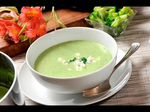 Crema de br coli cream of broccoli youtube for Como se cocina el brocoli