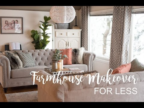 Farmhouse Living Room Makeover on a Budget