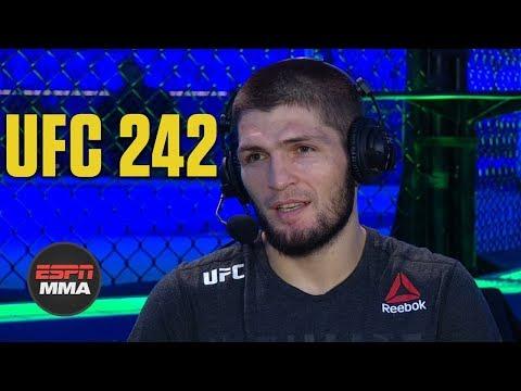 Khabib Nurmagomedov talks Dustin Poirier fight, Tony Ferguson | UFC 242 Post Show | ESPN MMA