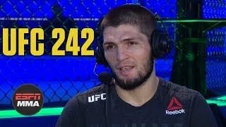 Khabib Nurmagomedov talks Dustin Poirier fight, Tony Ferguson | UFC 242 Post Show | ESPN MMA