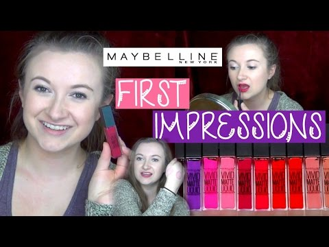 Maybelline Vivid Matte Liquid Lipsticks | Drugstore First Impressions Review!