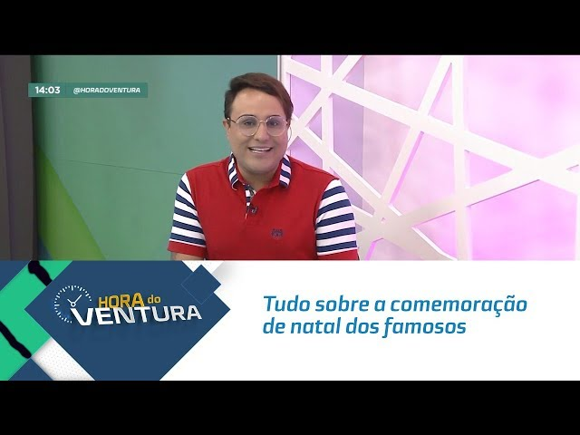 Bruno Ventura conta tudo sobre a comemoração de natal dos famosos - Bloco 01