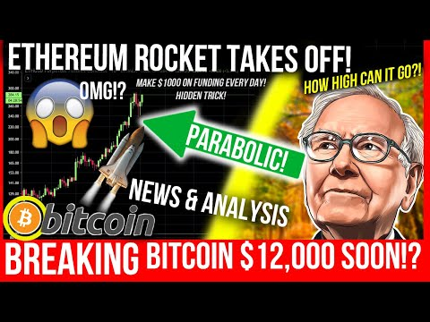 BITCOIN ROCKET TO $12,000! $1000 ETHEREUM? Funding Rates Explained! Make $1000 a day! Bitcoin BTC TA