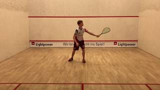 Volley Wall-to-Wall im Squash