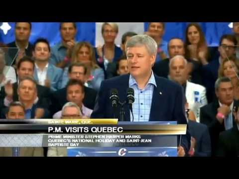 """Quebec nationalism ... is not a threat"": Harper"